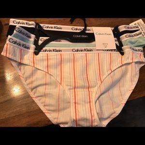 NWT Calvin Klein (three pair) women's bikinis NWT
